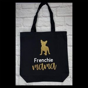 """""""Frenchie mama"""" Canvas Tote bag"""